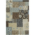 Fiesta Blue Indoor/ Outdoor Mosaic Rug (2'0 x 3'0)