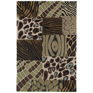 Brookside Prints Blue Polyester Rug (8'0 x 11'0)
