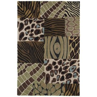 Brookside Prints Blue Polyester Rug (9'6 x 13'0)