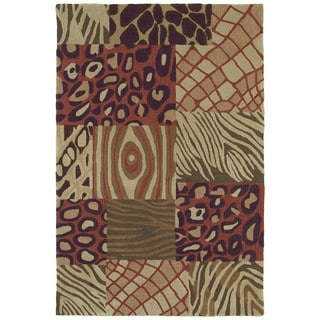 Brookside Prints Multi-colored Polyester Rug (9'6 x 13'0)