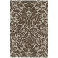 Brookside Damask Mint Green Polyester Rug (4'0 x 6'0)
