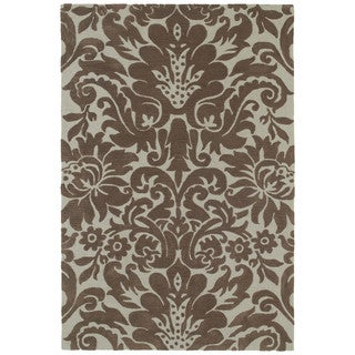Brookside Damask Mint Green Polyester Rug (7'6 x 9'0)