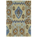 Brookside Tribal Blue Polyester Rug (4'0 x 6'0)