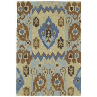 Brookside Tribal Blue Polyester Rug (5'0 x 7'6)