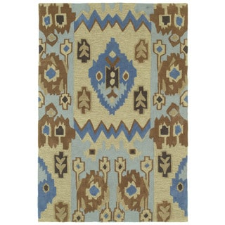 Brookside Tribal Blue Polyester Rug (9'6 x 13'0)