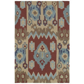 Brookside Tribal Red Polyester Rug (7'6 x 9'0)