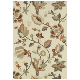 Brookside Ivory Garden Polyester Rug (9'6 x 13'0)
