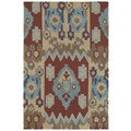 Brookside Tribal Red Polyester Rug (5'0 x 7'6)
