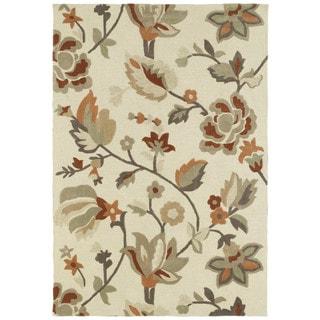 Brookside Ivory Garden Polyester Rug (4'0 x 6'0)
