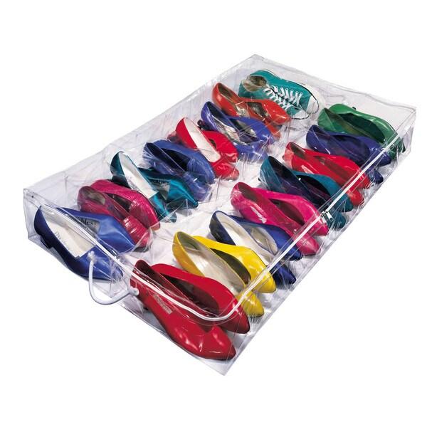 Richards Homewares Clear Under Bed Shoe Storage
