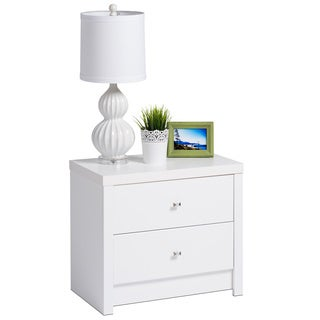 Pure White Nolita 2-drawer Nightstand