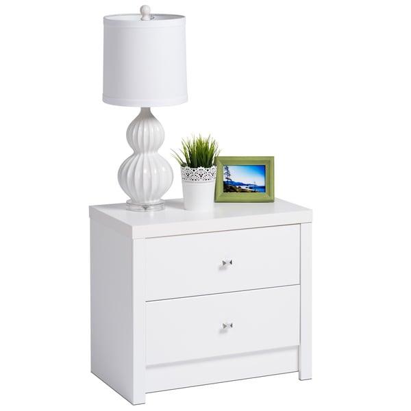 Pure White Nolita 2-drawer Nightstand