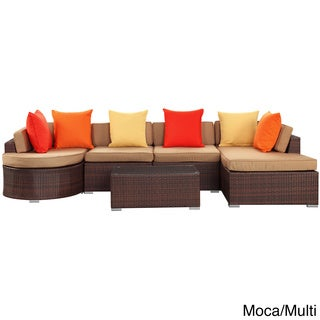 Montana Outdoor Patio 5 Piece Sectional Set Overstock Shopping Big Discounts On Modway Sofas