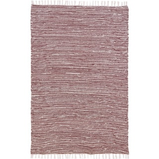 Brown Reversible 8x10-foot Chenille Flat Weave Rug
