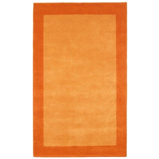 Orange Border Pulse 5x8-foot Hand Tufted Wool Rug
