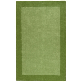 Green Border Pulse 5x8-foot Hand Tufted Wool Rug