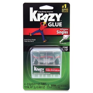 Krazy Glue Single-Use Tubes w/Storage Case 4/Pack