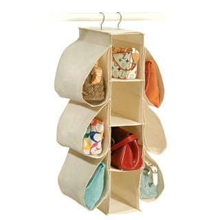 Richards Homewares Canvas Hanging Purse Organizer