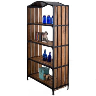 Handcrafted Mango Wood Evelyn Bookcase (India)