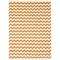 Hand-woven Orange Electro Flatweave Wool Rug (4' x 6')