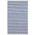Hand-woven Blue Electro Flatweave Wool Rug (8' x 10')
