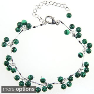 Handmade Malachite or Agate Beaded Bracelet (China)
