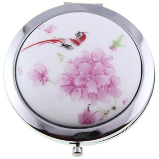 Handmade Porcelain Happy Bird Cosmetic Mirror (China)