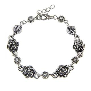 Tibetan Silver Rose Bracelet (China)