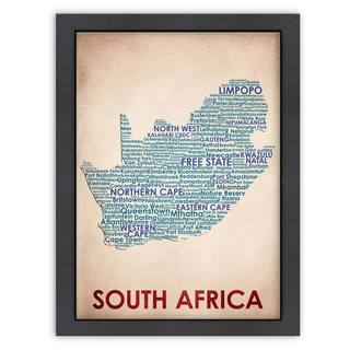 'South Africa Word Map' Framed Print