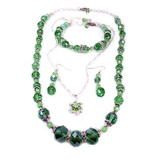 Jewelry and Rosaries 24-inch Chrysolite Green Crystal Wedding Jewelry