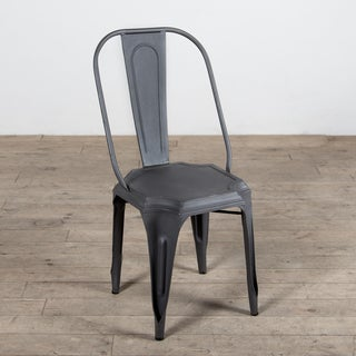 Harvey Grey Metal Dining Chair (India)