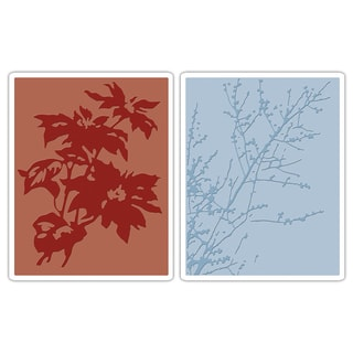 Sizzix Texture Fades Winter Embossing Folders (Pack of 2)
