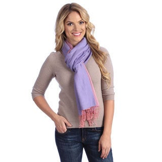 Women's Pink/ Lavender Cashmere and Silk Scarf