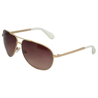 Marc Jacobs 'MMJ 004/S' Unisex Gold Aviator Sunglasses