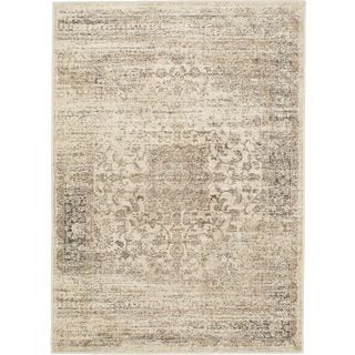 Floral Medallion Cream Rug (3'11 x 5'7)