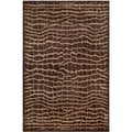 Safavieh Hand-knotted Tibetan Brown/ Beige Wool Rug (4' x 6')