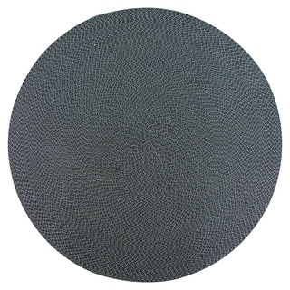 Lemonade Indoor/ Outdoor Navy Braided Rug (6' Round)