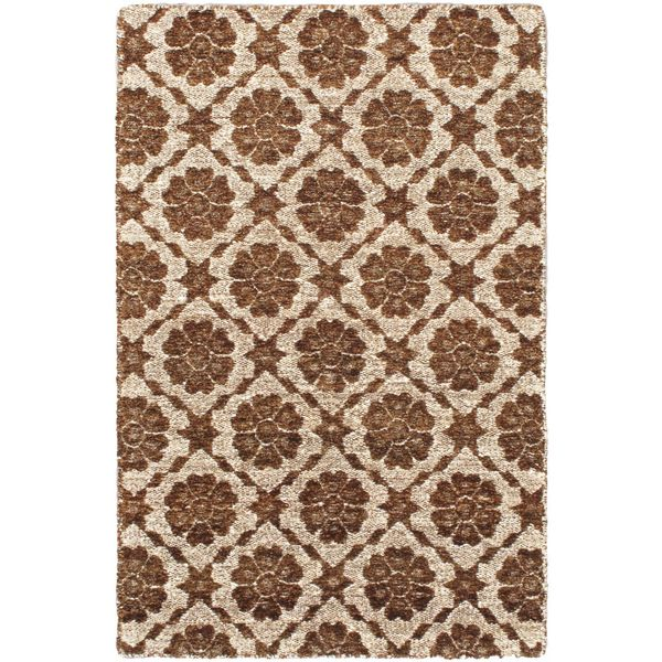 Hand-made Rodrigo Brown Rug (3'11 x 5'11)