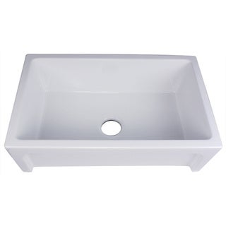 Highpoint Collection Italian Fireclay Farmhouse Kitchen Sink