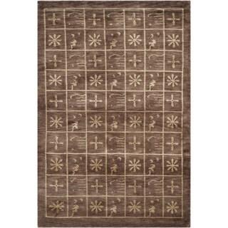 Safavieh Hand-knotted Tibetan Multicolored Wool/ Silk Area Rug (4' x 6')