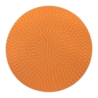 Lemonade Indoor/ Outdoor Orange Braided Rug (6' Round)
