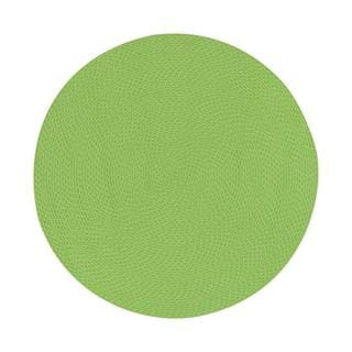 Lemonade Indoor/ Outdoor Green Braided Rug (6' Round)