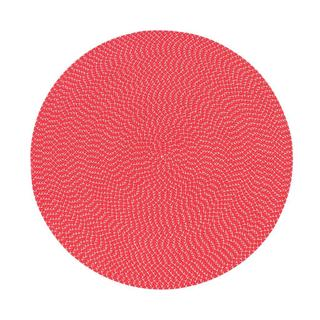 Lemonade Indoor/ Outdoor Red Braided Rug (6' Round)