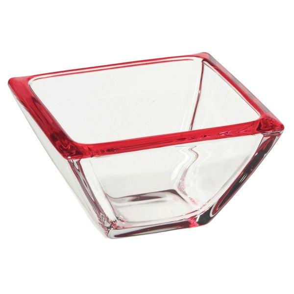 Red Vanilla 5-inch Freshness Mix & Match Fruit Red Dessert Bowl (Set of 4)