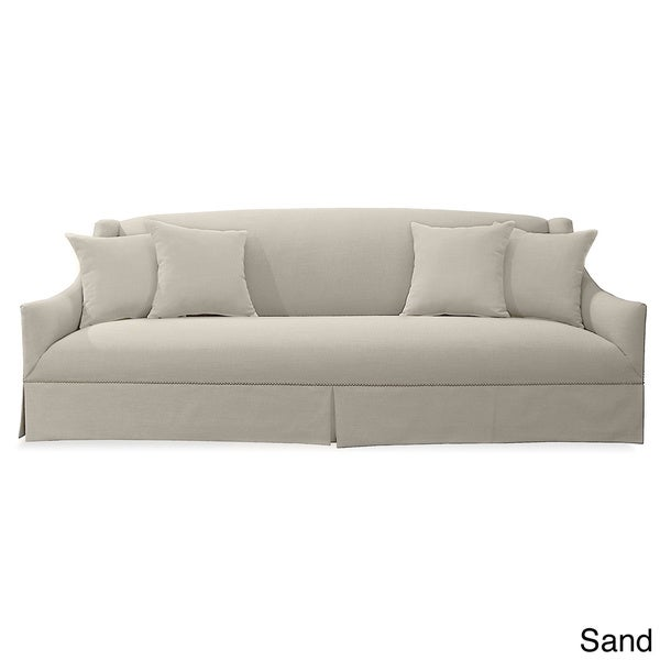 camille premium linen sofa overstock shopping great