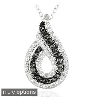 Glitzy Rocks Sterling Silver Gemstone Teardrop Necklace