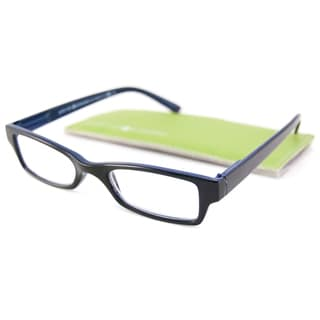 Gabriel+Simone Readers Men's/Unisex Saint Germain Rectangular Black-and-Blue Reading Glasses