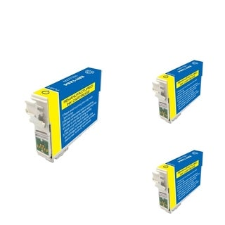 INSTEN Epson T126420 Yellow Cartridge Set (Remanufactured) (Pack of 3)