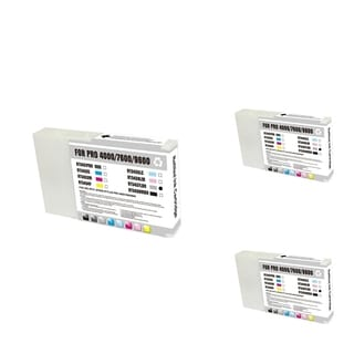 Epson T543700 LB Light Blue Cartridge Set (Remanufactured) (Pack of 3)