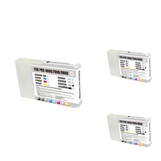 INSTEN Epson T543700 LB Light Blue Cartridge Set (Remanufactured) (Pack of 3)